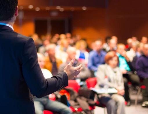 exemplo de evento corporativo em auditório