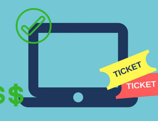 ícone de computador usado na venda de ingressos online