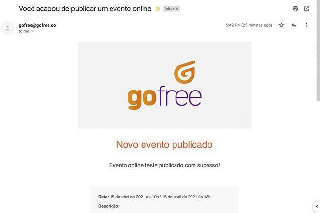 evento gofree confirmado por email